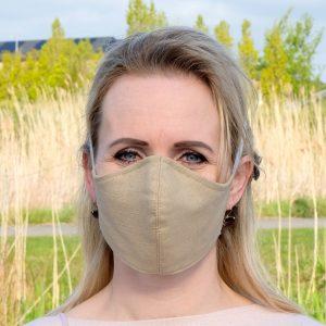 natural linen face mask