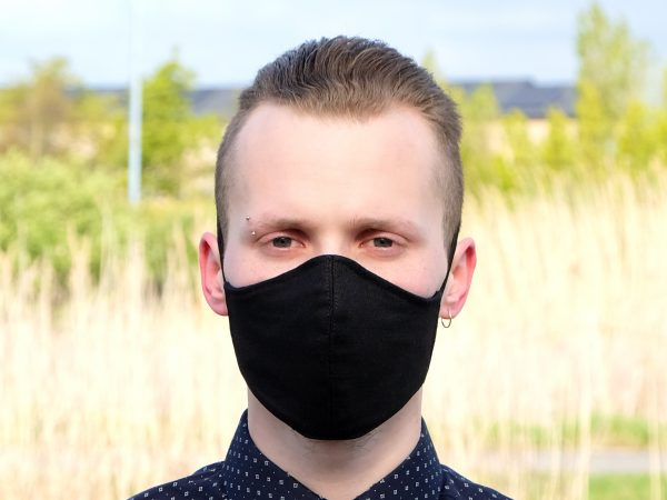 black linen face mask ireland