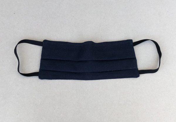 classic navy linen mask